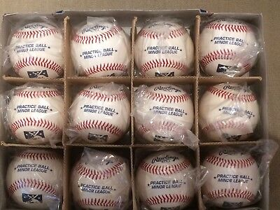 MILB Minor League Baseball Official Rawlings Practice Baseballs 1- Dozen New