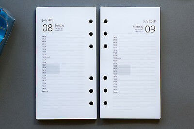 2019 Personal Size Refills |1-Day-per-Page Appointments | Fits Filofax & Collins