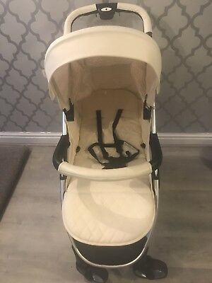 Stroller My Babiie Billie Faiers MB100  Cream Pushchair With Rain Cover For Baby