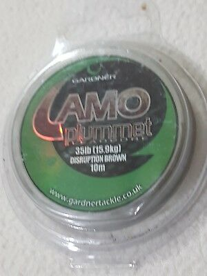 Gardner Camo Plummet 35lb/15.9kg Disruption Brown 10m Leadcore