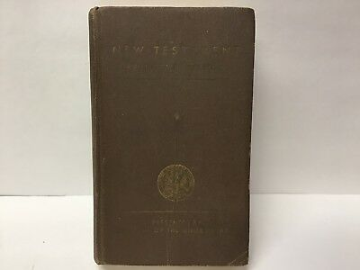 WWII 1941 New Testament Protestant Version Bible Franklin Roosevelt US Army RARE