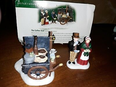 Dept 56 Dickens Village - The Coffee-Stall, Set of 2 - #58571