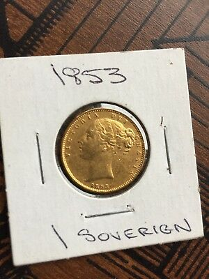 1853 Gold Sovereign