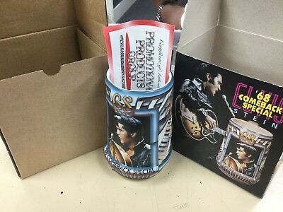 NEW 1998 Budweiser Elvis Presley '68 Comeback Special Limited Stein CS374 (126)