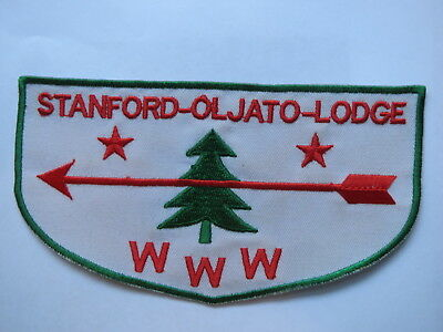 PATCH , Boy Scouts America , BSA , 1956 Camp Oljato, Stanford, Chief Seattle