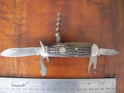 Vintage Boker Solingen Tree Brand Germany 182 Sportsmans Scouts Knife