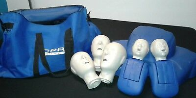 CPR Prompt Manikins -  3 Adult/Child  & 2 Infant. Carrying Bag, Instructions.
