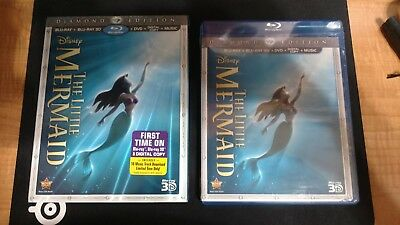 The Little Mermaid Three-Disc Diamond Edition Blu-ray 3D / Blu-ray / DVD + Di...