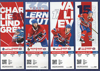 2018-19 MONTREAL CANADIENS NHL HOCKEY TICKET vs DEVILS JESPERI KOTKANIEMI Sept17