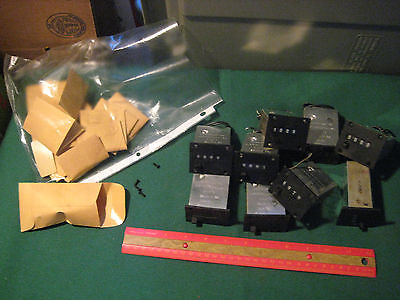 Vintage Lot of 9 Veeder-Root 4-Digit Counters ARX-132-24 24 Volts