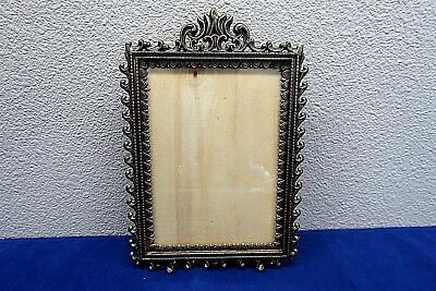 Vintage Antique Brass Finish Ornate Wll Picture Photo Frame Made In Italy