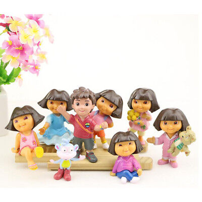 Dora the Explorer Various Dora 8 PCS Action Figure Kid Gift Doll Cake Topper Toy