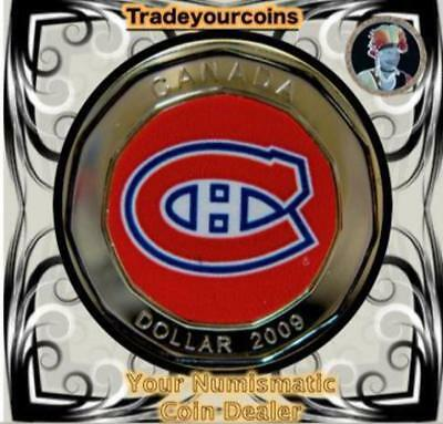 2009 Canada Nickel Montreal Canadiens Loonie Dollar From Canadian NHL Hockey Hom