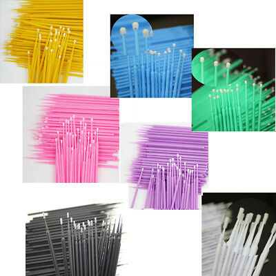 100 PCS Dental Disposable Micro Applicator Brush Bendable Painting Makeup Brush