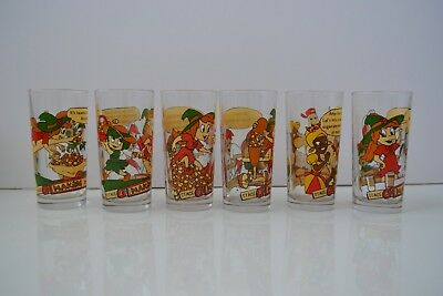Nutella Collectible Glasses 1995 'Making Nutella' Complete Set of 6 Vintage