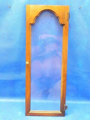 Vintage 1960's Colonial Western Germany Grandfather Clock Glass Door ONLY Orig.