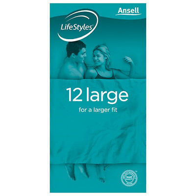 NEW Ansell Lifestyles Condom Large 12 Pack Condoms Contraceptives