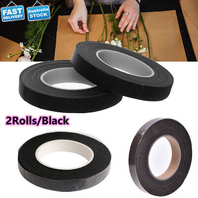 2Rolls  Black 12MM Parafilm Wedding Bouquet Craft Florist Stem Wrap Floral Tape