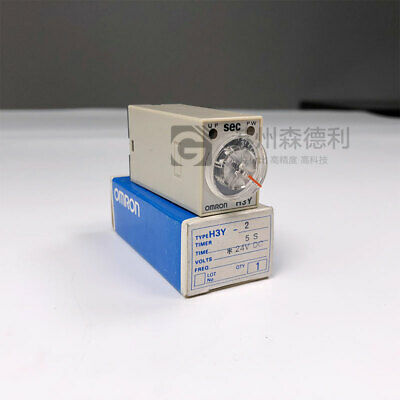 Omron H3Y-2-AC200/230-5S Mimi Timer 5 Second 200Vac Contact 5Amp 50/60Hz