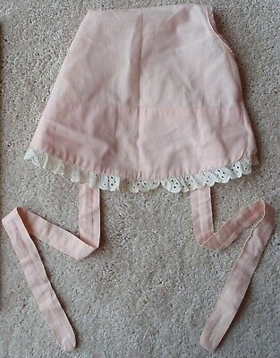 VINTAGE~EARLY 1950's Pink Baby Bonnet~65+ years old