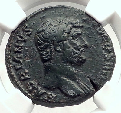 HADRIAN Authentic Ancient 134AD Rome Roman Coin PIETAS NGC Certified i73135