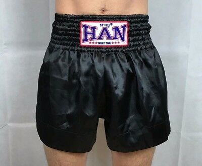 Authentic Han Mens Muay Thai Kickboxing MMA Training Shorts Size M