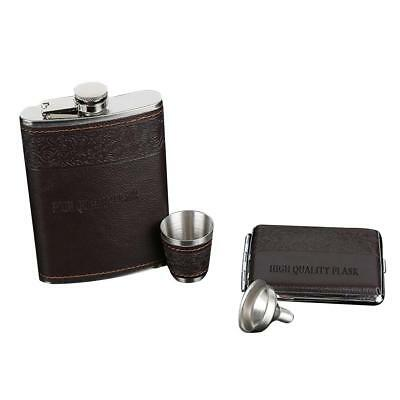 Portable Liquor Whiskey Alcohol Flagon Stainless Steel Hip Flasks Wine Bottle