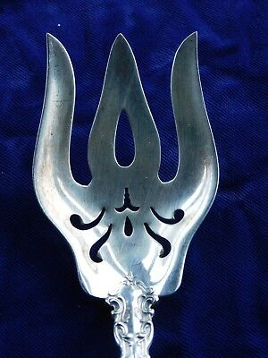 Vintage GORHAM CHANTILLY Sterling Silver Large Serving Meat Fork No Monogram
