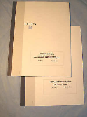 LOT of Two Steris Operator Manuals