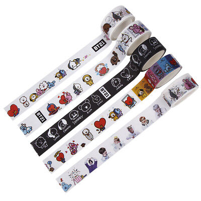 KPOP BTS Cartoon Washi Tape Paper Maksing Cute DIY Scrapbook Stickers New