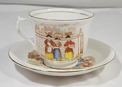 Bell China Fine Bone China Tea Cup & Saucer Welsh Costumes