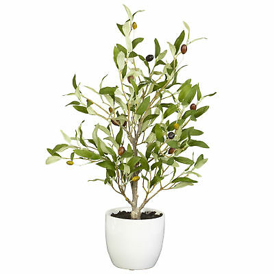 "1'6""Hx10""W Olive Tree & Berry Artificial Tree w/Pot -Green (pack of 2)"