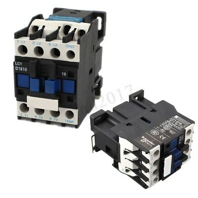 AC Contactor AC220V Copper Coil 18A 3-Phase 1NO 50/60Hz  Motor Starter Relay