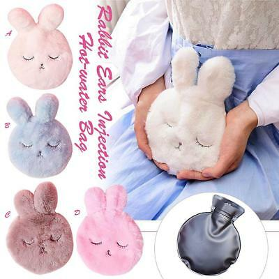 Cute Rabbit Hot Water Bottle Plush Soft Hand Warmer Bag Winter Body Warmer Girl