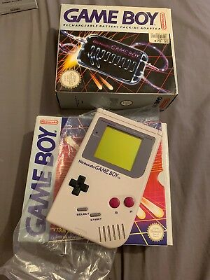 As New Nintendo Gameboy In Box Plus Rechargeable Battery Pack