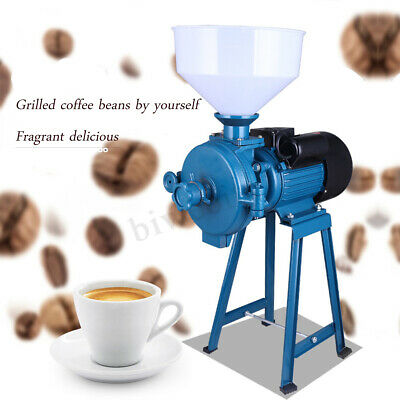 220V CE Electric Feed Mill Wet Dry Cereals Grinder Corn Grain Rice Coffee Wheat