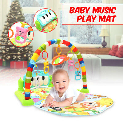 4 in 1 Baby Lullaby Kid Soft Playmat Piano Musical Sleep Activity Fitness Gifts