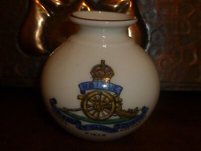 WH GOSS Military Crested China Silchester Vase. Crest of Royal Field Artillery