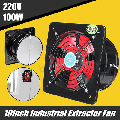10'' 100W Industrial Ventilation Extractor Exhaust Commercial Air Blower Fan