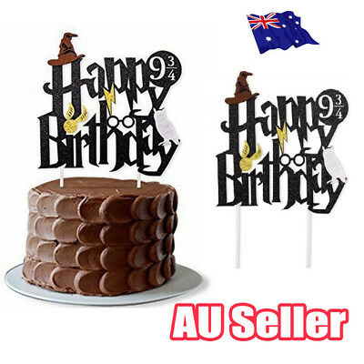 Harry Potter Happy Birthday Cake Topper Bunting Party Decoration Anniversary EA