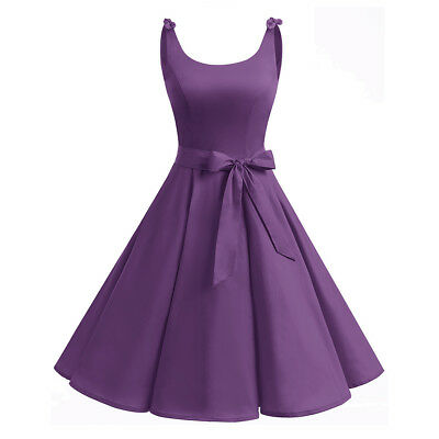 4fbfabbed4c11 WOMEN 50S AUDREY Hepburn Style Vintage Dress Sleeveless Chic Party ...