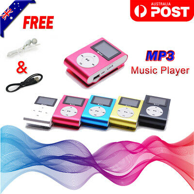 Mini USB Clip Sport Portable MP3 Player Support Up To 64GB Micro SD Memory Card