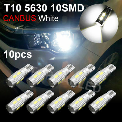 10 X HID White CANBUS T10 5630 6smd Car Auto LED Light bulbs 12V W5W 158 194