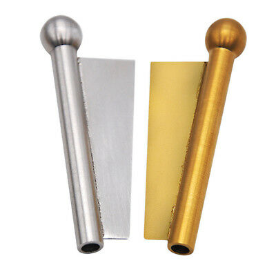 1x Gold Nasal Snuff Sniffer Straw Snorter Snuffer tube With Blade Edge