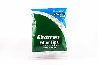 10 Sharrow Filter Tips Standard Menthol 10 Packets x 200 Filter Tips - New