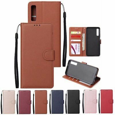 For Samsung Galaxy A7 2018 A8 A6 A5 Magnetic Flip Card Wallet Leather Case Cover