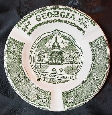 Vintage Georgia Ashtray - design by Vernon Kilns Pottery/China