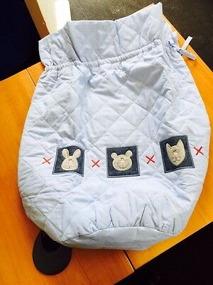 BRAND NEW Baby Boy Nursery Lollipop Lane Blue Hearts and Kisses Range Laundy Bag