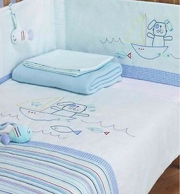 Baby Nursery Lollipop Lane Fish And Chips Cot/Cot Bed Bumper 35cm x 155cm