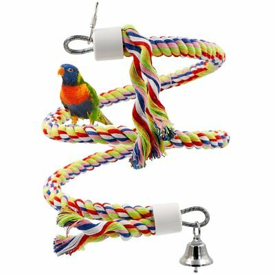 1 Rope Bungee Bird Toy, Rusee Small or Medium-Sized Parrot Toy